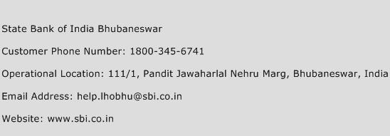 State Bank of India Bhubaneswar Phone Number Customer Service