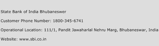 State Bank of India Bhubaneswer Phone Number Customer Service