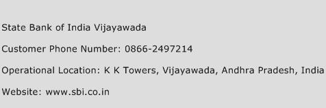 State Bank of India Vijayawada Phone Number Customer Service
