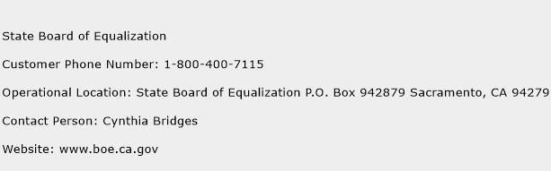 State Board of Equalization Phone Number Customer Service