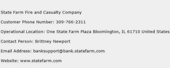 State Farm Fire and Casualty Company Phone Number Customer Service
