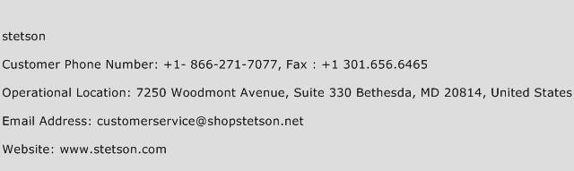 Stetson Phone Number Customer Service