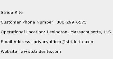 Stride Rite Phone Number Customer Service
