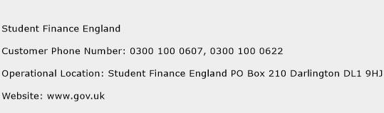 Student Finance England Phone Number Customer Service