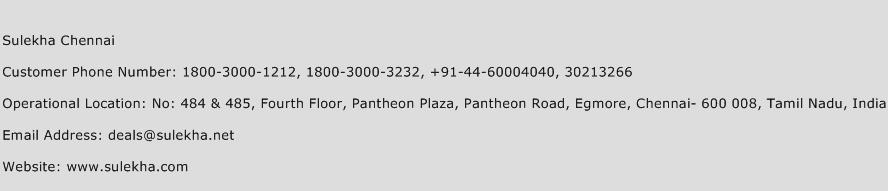 Sulekha Chennai Phone Number Customer Service