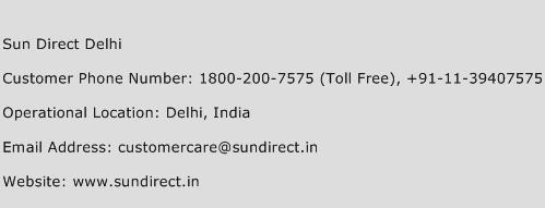 Sun Direct Delhi Phone Number Customer Service