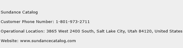 Sundance Catalog Phone Number Customer Service