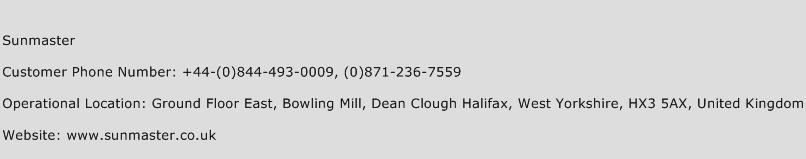 Sunmaster Phone Number Customer Service