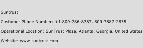 Suntrust Phone Number Customer Service