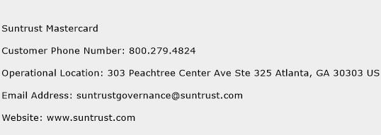 Suntrust Mastercard Phone Number Customer Service