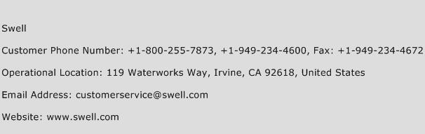 Swell Phone Number Customer Service