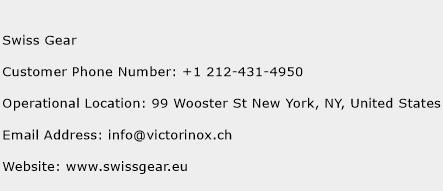 Swiss Gear Phone Number Customer Service