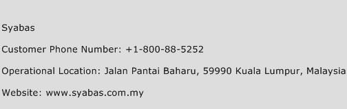 Syabas Phone Number Customer Service