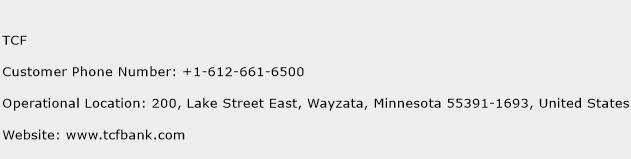 TCF Phone Number Customer Service