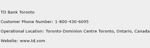 TD Bank Toronto Customer Service Phone Number | (Toll Free ...