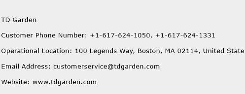 TD Garden Phone Number Customer Service