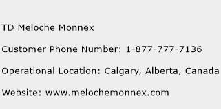 TD Meloche Monnex Phone Number Customer Service