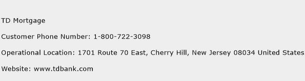 TD Mortgage Phone Number Customer Service
