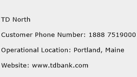 TD North Phone Number Customer Service