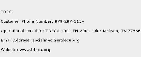 TDECU Phone Number Customer Service