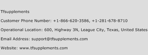 TFSupplements Phone Number Customer Service