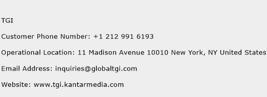 TGI Phone Number Customer Service