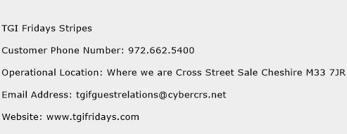 TGI Fridays Stripes Phone Number Customer Service