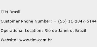 TIM Brasil Phone Number Customer Service