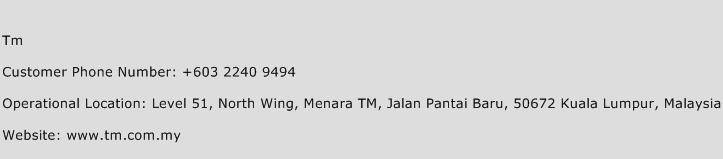 TM Phone Number Customer Service
