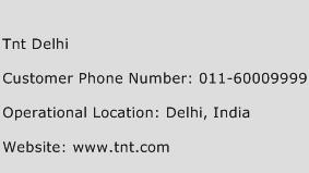 TNT Delhi Phone Number Customer Service