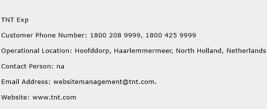 TNT Exp Phone Number Customer Service