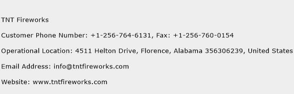 TNT Fireworks Phone Number Customer Service