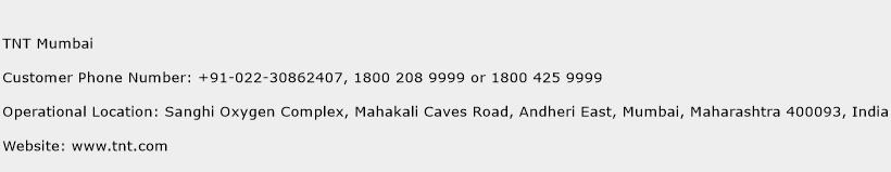 TNT Mumbai Phone Number Customer Service