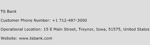 TS Bank Phone Number Customer Service