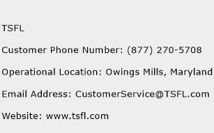 TSFL Phone Number Customer Service