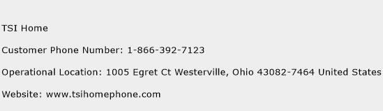 TSI Home Phone Number Customer Service