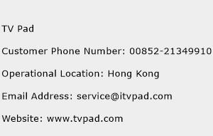 TV Pad Phone Number Customer Service