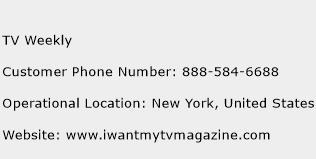 TV Weekly Phone Number Customer Service