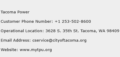 Tacoma Power Phone Number Customer Service