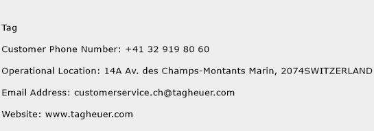 Tag Phone Number Customer Service