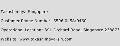Takashimaya Singapore Phone Number Customer Service