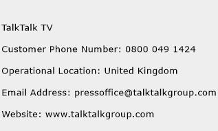 TalkTalk TV Phone Number Customer Service