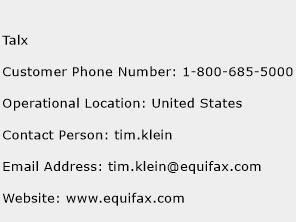 Talx Phone Number Customer Service