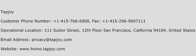 Tapjoy Phone Number Customer Service