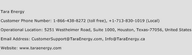 Tara Energy Phone Number Customer Service