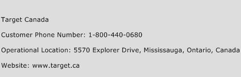 Target Canada Phone Number Customer Service