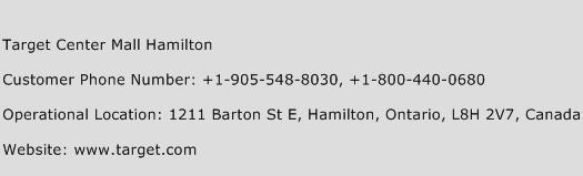 Target Center Mall Hamilton Phone Number Customer Service