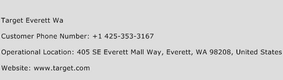 Target Everett Wa Phone Number Customer Service