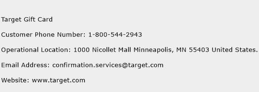 Target Gift Card Customer Service Phone Number | Contact Number ...