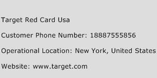 Target Red Card USA Phone Number Customer Service